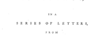<em>Dreams, Waking Thoughts, and Incidents: In a Series of Letters, from Various Parts of Europe</em> (1783)