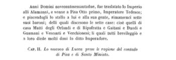 <em>Historia di Pisa di Ranieri Sardo Cittadino Pisano</em> (c. 1430)