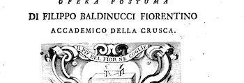 <em>Notizie de' Professori del Disegno da Cimabue in qua</em> (1681-1686)