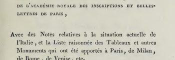 <em>Lettres historiques et critiques sur l'Italie</em> (1739/1740)
