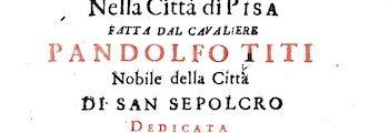 <em>Guida per il passeggiere dilettante di pittura, scultura, architettura nella Città di Pisa</em> (1751)