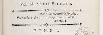 <em>Description historique et critique de l'Italie</em> (1761/1766)
