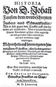 Titelblatt der Historia von D. Johann Fausten