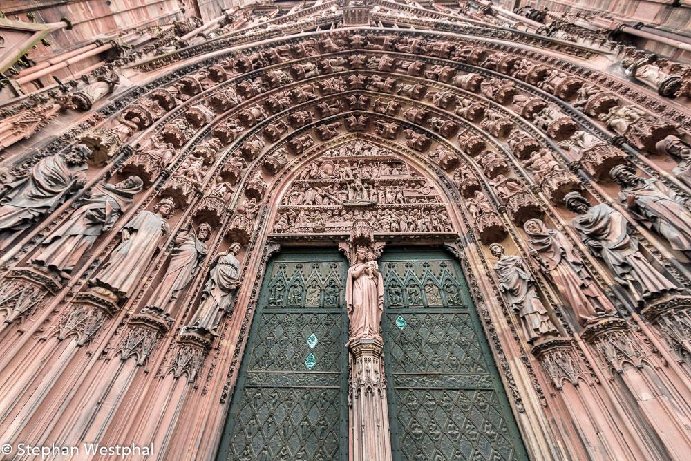Hauptportal der Westfassade am Straßburger Münster