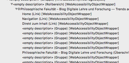 Accessibility Tree des Blogs der DLF